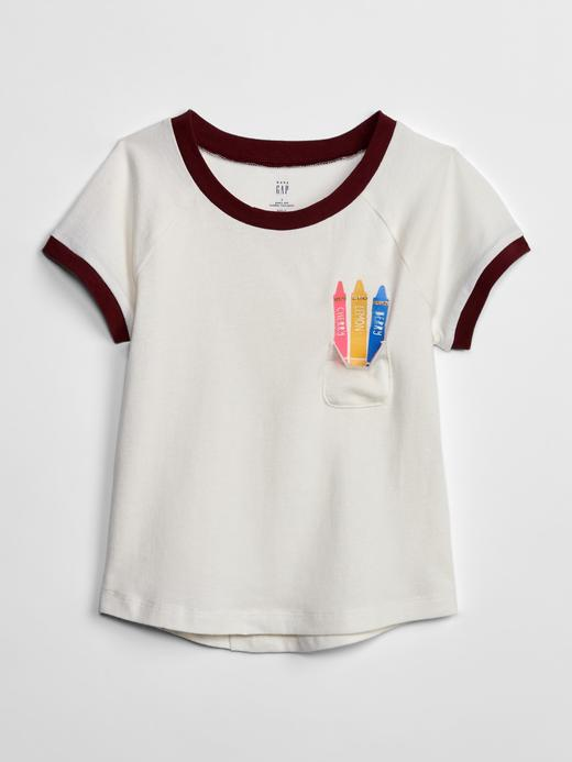 Bebek pembe Kız Bebek Grafik Kısa Kollu T-Shirt