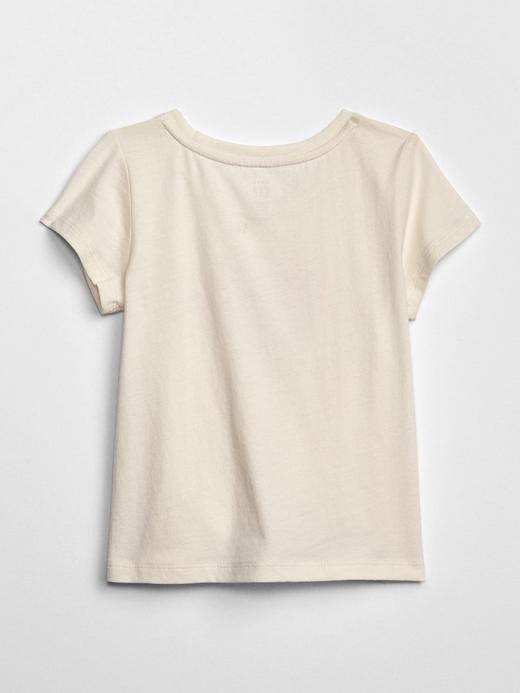 Bebek kirmizi Kız Bebek Grafik Kısa Kollu T-Shirt