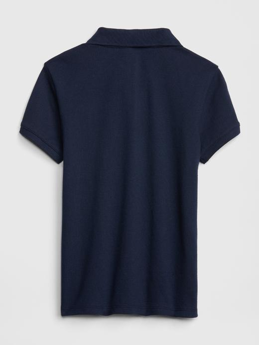 Kız Çocuk beyaz Kısa Kollu Polo Yaka T-Shirt