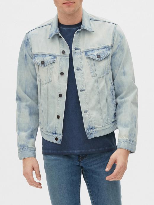 Erkek Mavi Icon Denim Ceket
