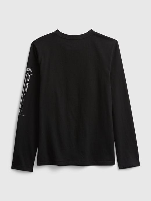 Erkek Çocuk Beyaz National Geographic Uzun Kollu T-Shirt