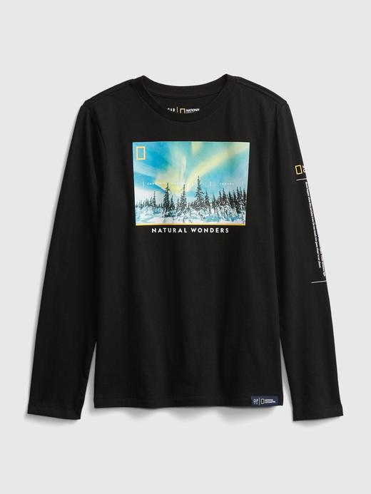 Erkek Çocuk Siyah National Geographic Uzun Kollu T-Shirt