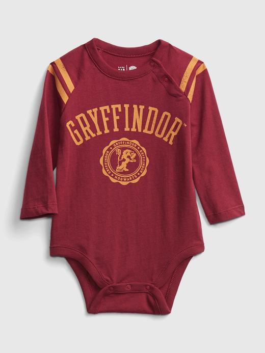 Erkek Bebek Kırmızı Harry Potter Grafik Body
