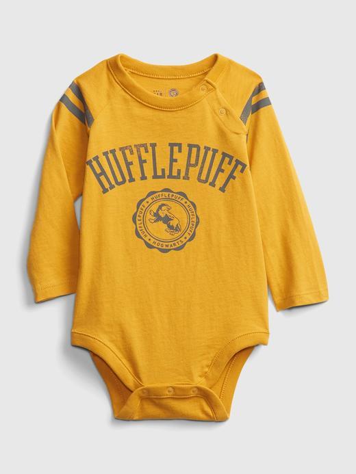 Erkek Bebek Sarı Harry Potter Grafik Body