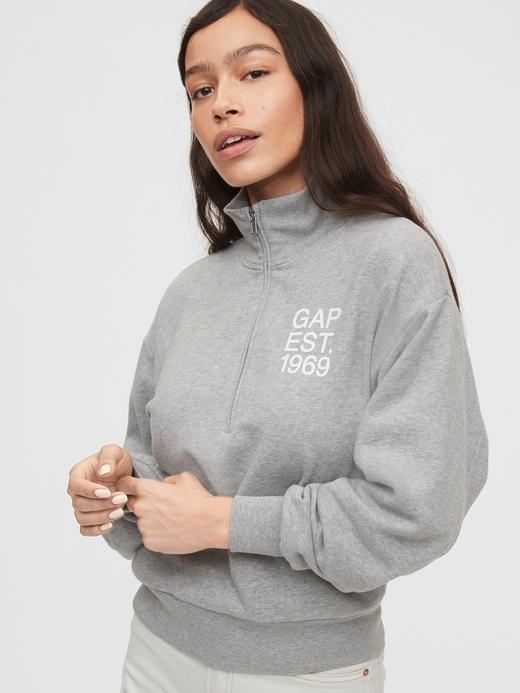 Kadın Gri Gap Logo Sweatshirt