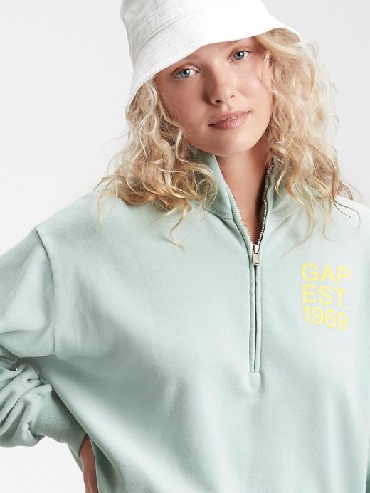 Kadın Mavi Gap Logo Sweatshirt