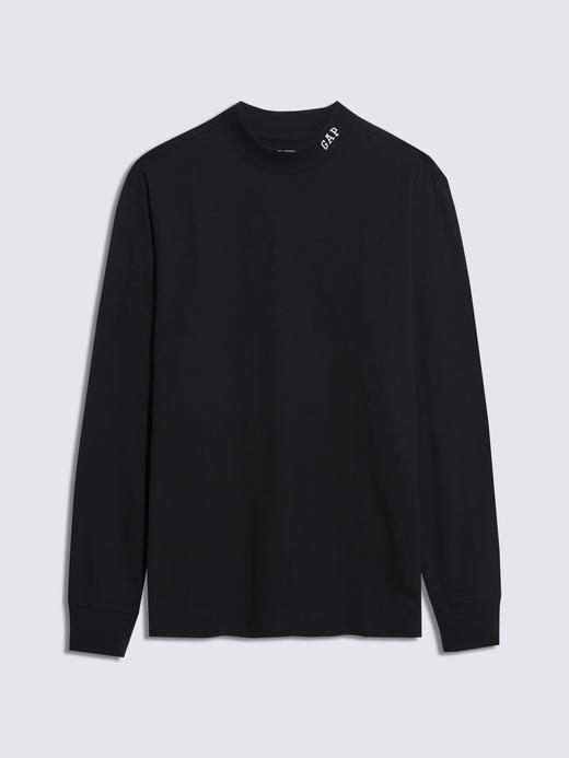Erkek Siyah Gap Logo Uzun Kollu T-Shirt