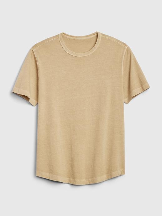 Erkek Kırmızı Vintage Soft Kısa Kollu T-Shirt