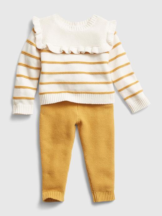 Kız Bebek Sarı Kazak ve Alt Takımı