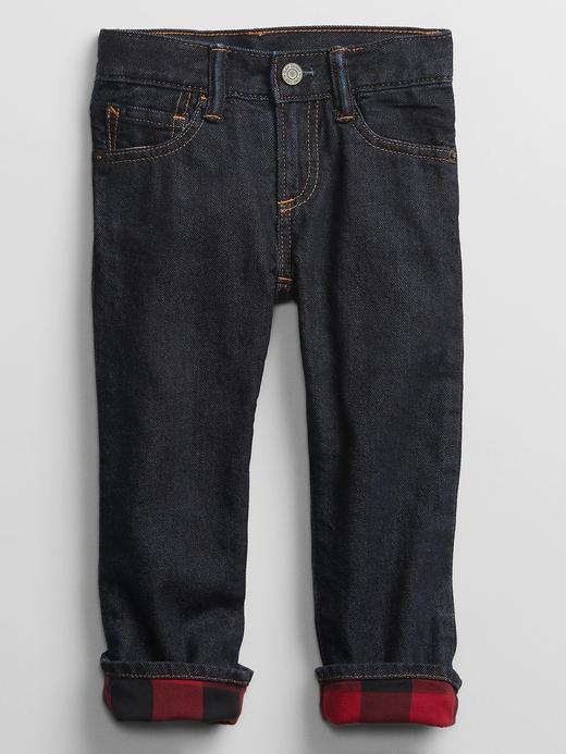 Erkek Bebek Lacivert Straight Jean Pantolon