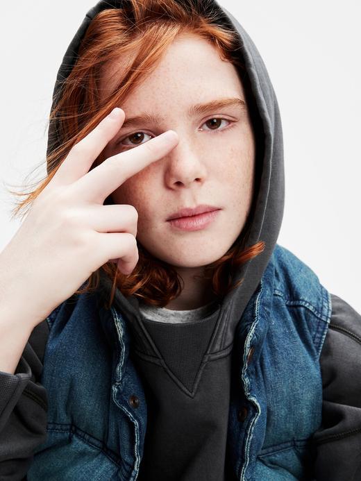Genç Erkek Pembe Genç Erkek | Kapüşonlu Sweatshirt