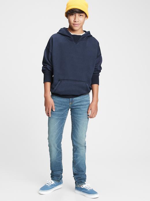 Genç Erkek Lacivert Teen Kapüşonlu Sweatshirt