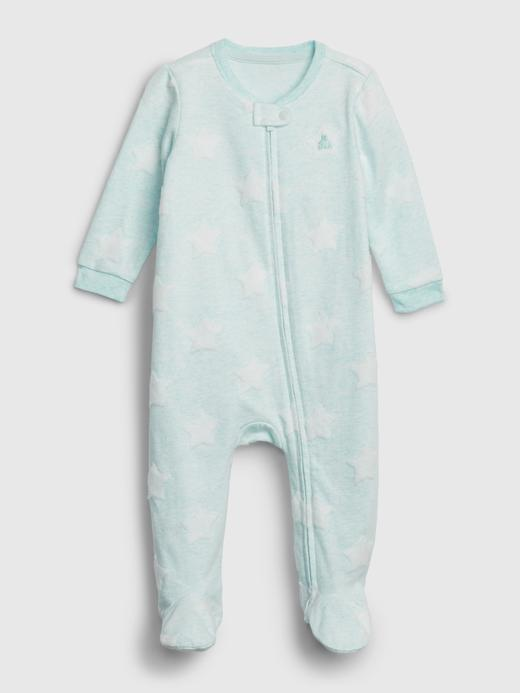 Erkek Bebek Mavi Pamuklu Tulum