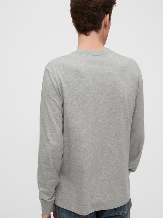 Erkek Kırmızı Gap Logo Uzun Kollu T-Shirt