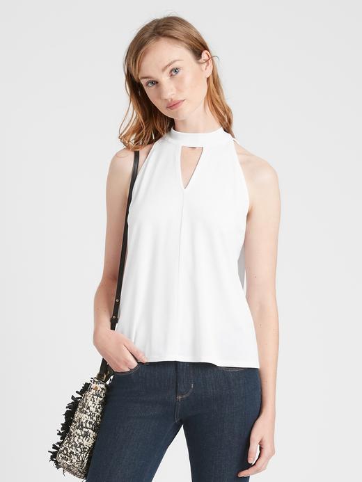 Kadın Beyaz Halter Yaka Bluz