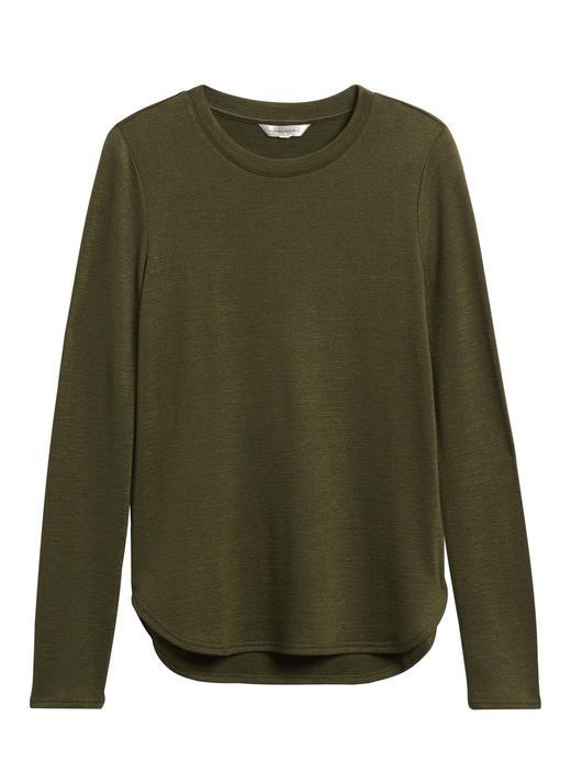 Kadın Yeşil Luxespun Uzun Kollu T-Shirt