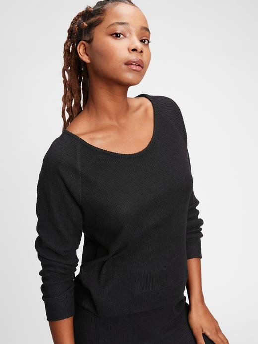 Kadın Siyah Softspun Pijama Üstü