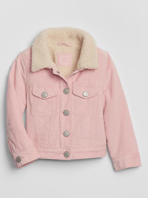 Kız Bebek Pembe Suni Kürk Astarlı Ceket