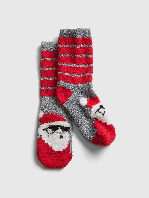 Erkek Çocuk Kırmızı Yumuşak Dokulu Çorap