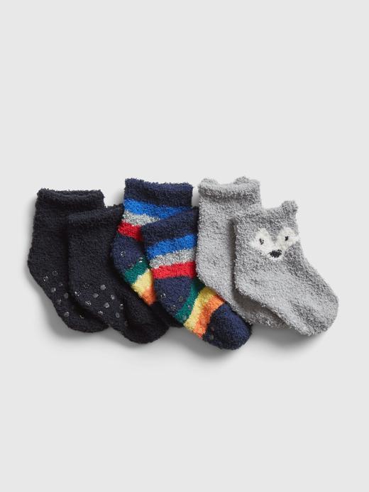 Erkek Bebek Lacivert 3'lü Çorap Seti