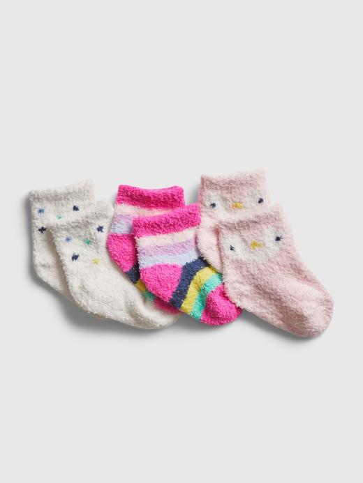 Erkek Bebek Pembe 3'lü Çorap Seti