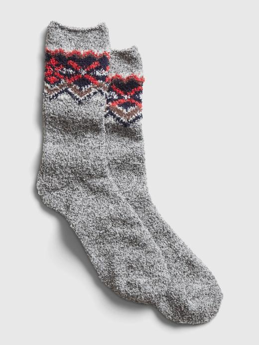 Erkek Gri Cozy Çorap