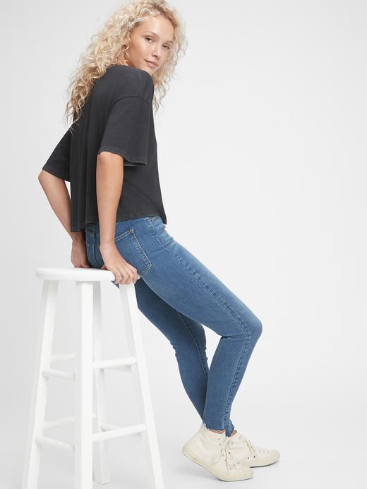 Kadın Lacivert High Rise Universal Legging Jean Pantolon