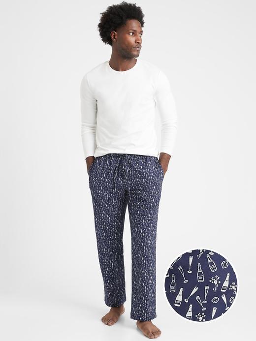 Erkek Lacivert Desenli Pijama Altı