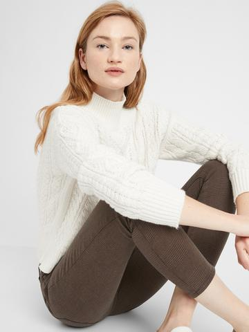 Kadın Kahverengi Mid-Rise Skinny Jean Pantolon