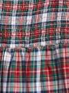Kız Çocuk Çok Renkli Ekose Desenli Uzun Kollu Elbise