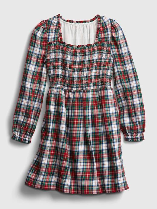 Kız Çocuk IVORY FROST Ekose Desenli Uzun Kollu Elbise