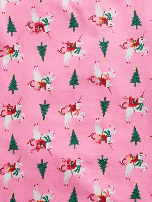 Kız Çocuk Pembe Unicorn Desenli Pijama Takımı