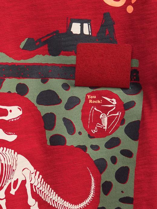 Erkek Bebek Kırmızı Uzun Kollu Grafik T-Shirt