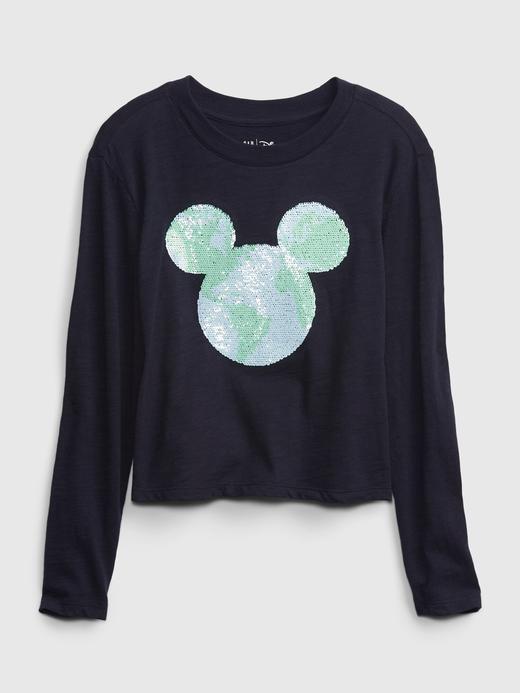 Kız Çocuk Lacivert Disney Grafik Cropped T-Shirt
