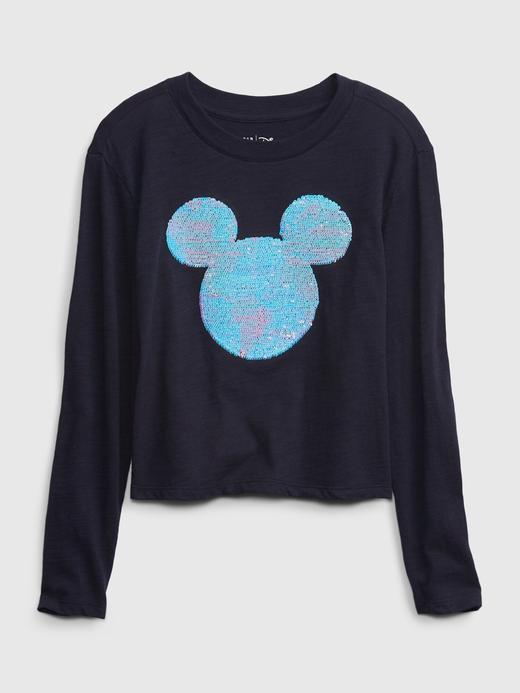 Kız Çocuk Siyah Disney Grafik Cropped T-Shirt