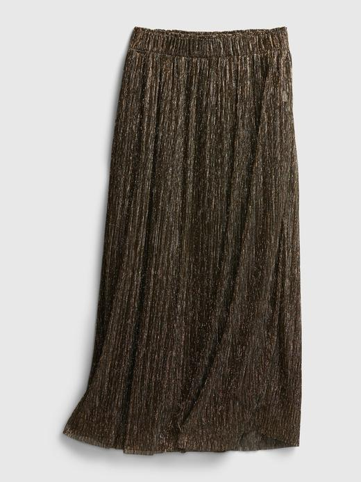 Kadın kahverengi Pileli Midi Etek