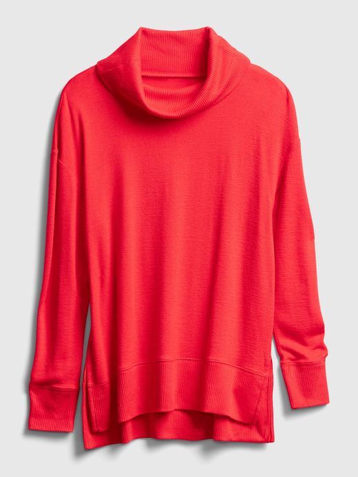 Kadın kahverengi Softspun Balıkçı Yaka T-Shirt