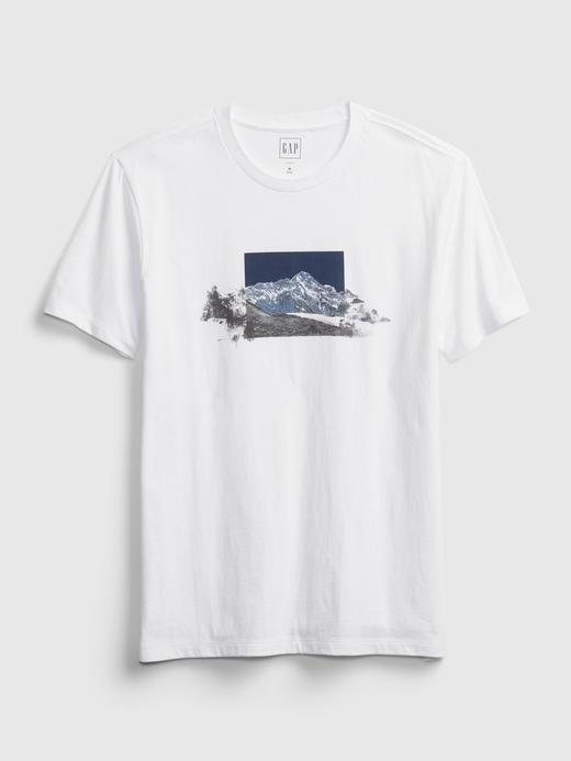 Erkek Beyaz Kısa Kollu Grafik T-Shirt