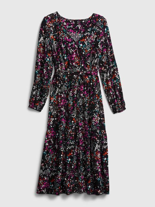 Kadın Siyah Anvelop Midi Elbise