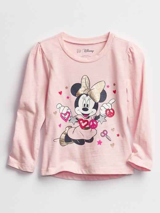 Kız Bebek Pembe Disney Minnie Mouse Grafik T-Shirt