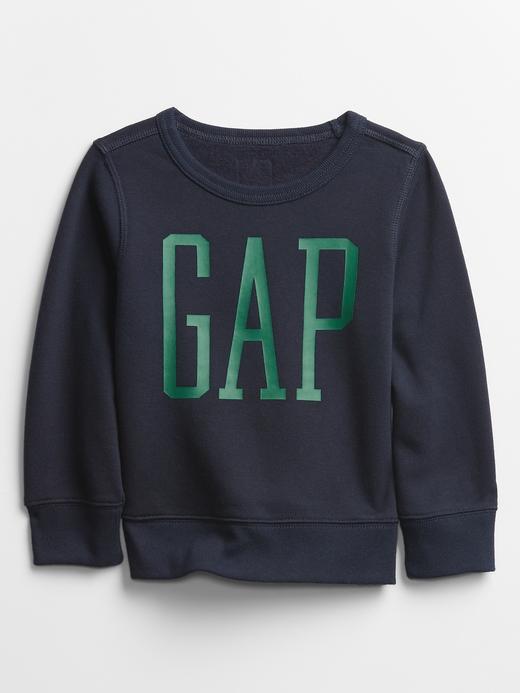 Erkek Bebek Lacivert Gap Logo Yuvarlak Yaka Sweatshirt