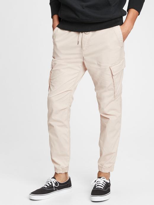 Erkek Bej GapFlex Kargo Pantolon