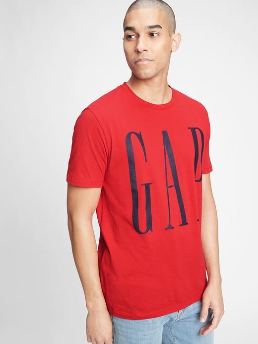 Erkek  Gap Logo Kısa Kollu T-Shirt