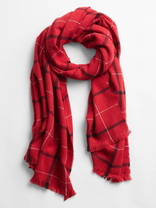 Kadın Kırmızı Cozy Şal
