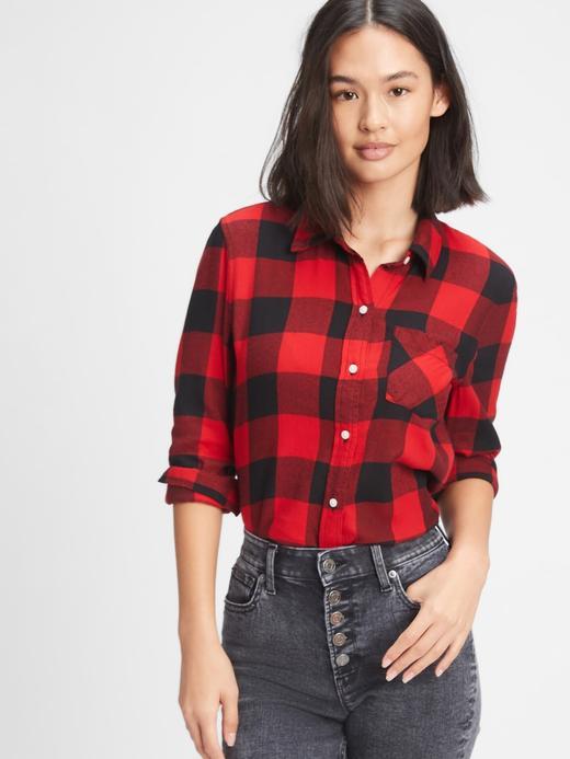 Kadın BUFFALO CHECK RED Ekose Gömlek