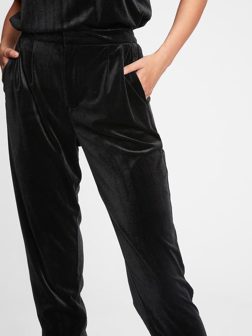 Kadın Pembe Kadife Jogger Pantolon