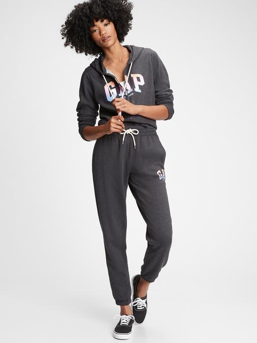 Kadın Gri Gap Logo Jogger Eşofman Altı