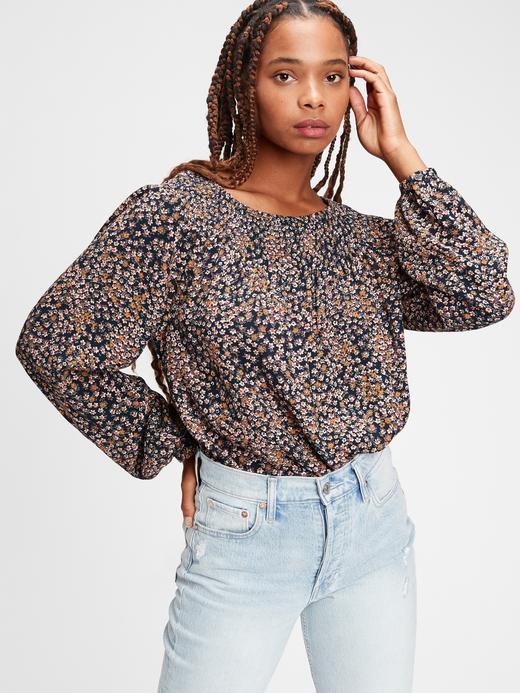 Kadın Çok Renkli Çiçek Desenli Raglan Bluz