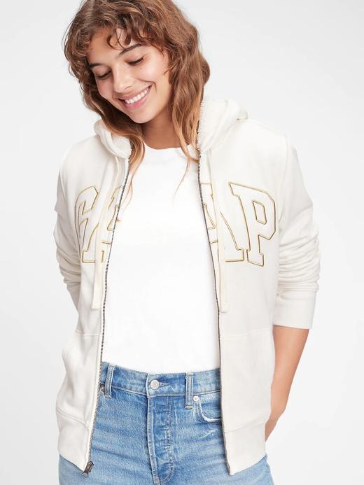Kadın MILK 600 GLOBAL Gap Logo Kapüşonlu Sweatshirt