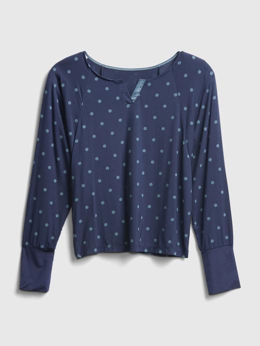 Kadın Lacivert Modal Karışımlı Pijama Üstü